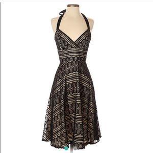 Shoshanna lace halter dress